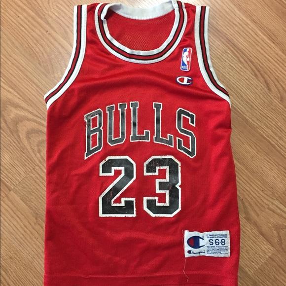 cfb7968bc06 Champion Shirts & Tops   Youth Jordan Jersey Chicago Bulls Vintage ...